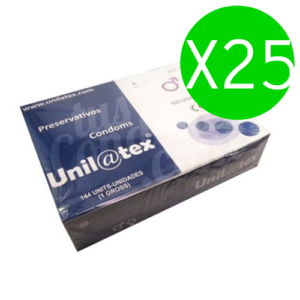 UNILATEX – NATURAL PRESERVATIVES PACK 25 X 144 UNITS